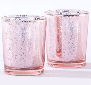 Pink Mercury Tealight Candle Holders