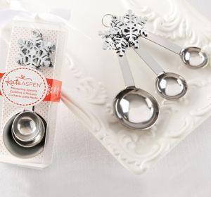 Silver Snowflake Measuring Spoons