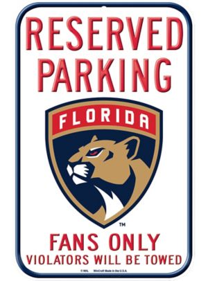 Reserved Parking Florida Panthers Sign