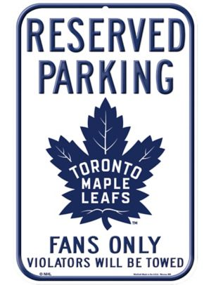 Reserved Parking Toronto Maple Leafs Sign