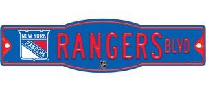 New York Rangers Street Sign