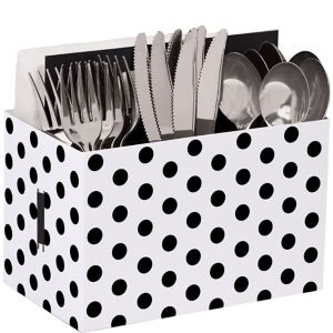 Black Polka Dot Utensil Caddy