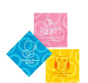 Personalized Baby Shower Circles Beverage Napkins