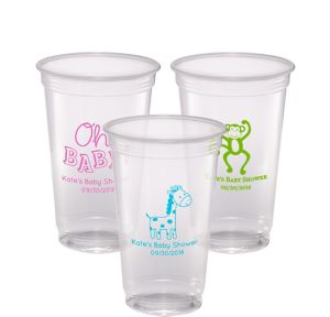 Personalized Baby Shower Plastic Party Cups 20oz
