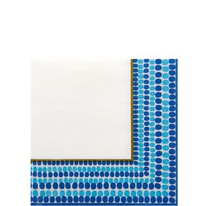 Indigo Dots Beverage Napkins 36ct