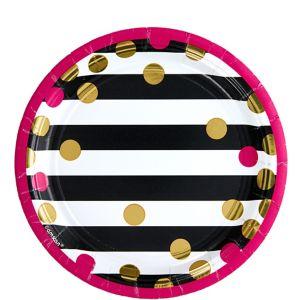 Pink & Gold Confetti Dessert Plates 8ct