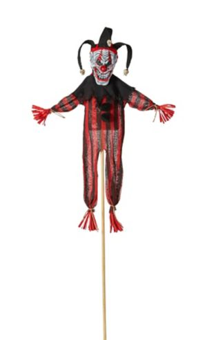 Giant Evil Clown Yard Stake