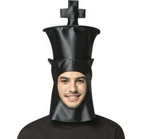 Adult Black King Chess Piece Hat