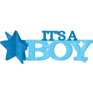 Glitter It's a Boy Baby Shower Centerpiece