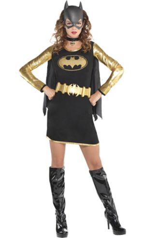 Adult Batgirl Long-Sleeve Dress - Batman