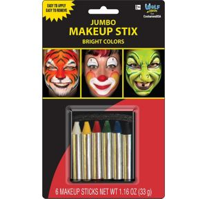 Bright Colors Makeup Sticks 6ct