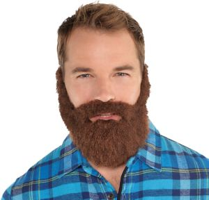 Brown Lumberjack Facial Hair Set