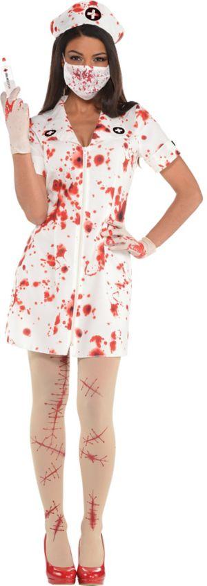 Adult Bloody Nurse Costume Accessory Kit