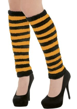 Adult Black & Orange Leg Warmers