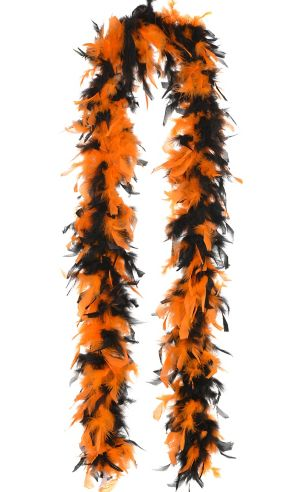 Orange & Black Feather Boa