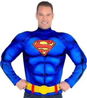 Adult Superman Muscle Shirt with Belt