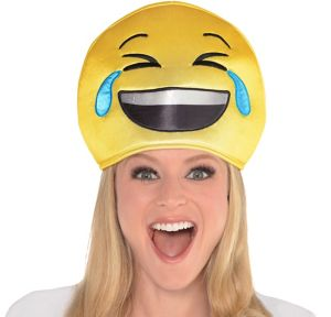 Adult Laughing Crying Smiley Hat