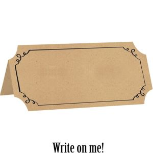 Kraft Paper Place Cards 25ct