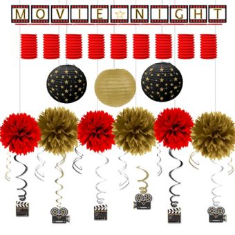 Hollywood Movie Night Deluxe Decorating Kit