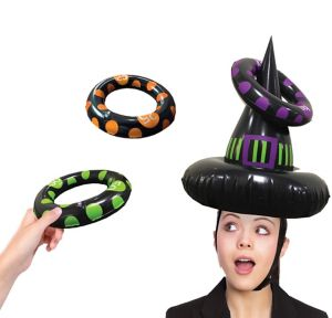 Inflatable Witch Hat Ring Toss Game