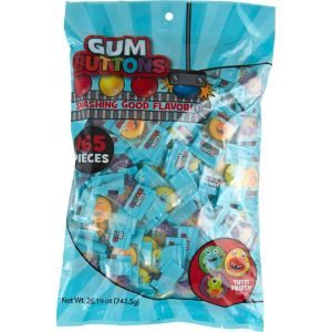 Silly Monsters Gum Buttons 165ct