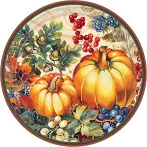 Warm Harvest Dinner Plates 8ct