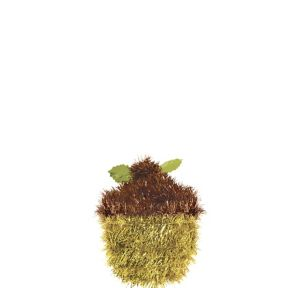 Tinsel Acorn Decoration