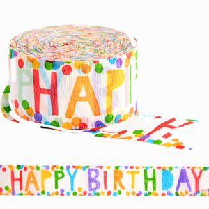 Colorful Happy Birthday Streamer