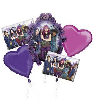Giant Descendants 2 Balloon Bouquet 5pc