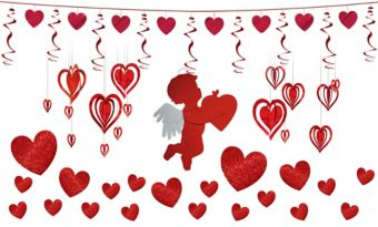 Red Hearts Valentine's Day Decorating Kit