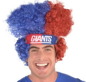 New York Giants Afro Wig