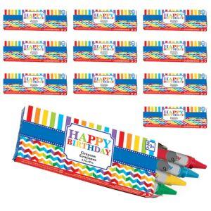 Rainbow Chevron Birthday Crayon Boxes 48ct