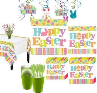 Easter Expressions Tableware Kit for 18 Guests
