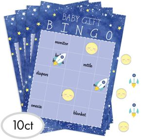 Moon & Stars Baby Shower Bingo Game