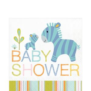 Happy Jungle Baby Shower Lunch Napkins 16ct