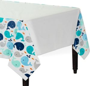 Blue Baby Whale Table Cover