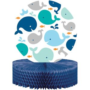 Blue Baby Whale Honeycomb Centerpiece
