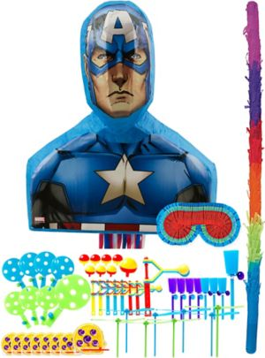 Captain America Pinata Kit with Favors
