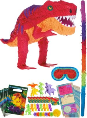 T-Rex Dinosaur Pinata Kit with Favors