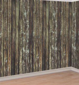 Old Wood Wall Room Roll