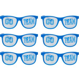 Blue Go Team Printed Glasses 12ct