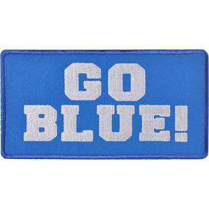 Go Blue Iron-On Patch