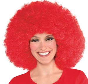 Giant Red Afro Wig