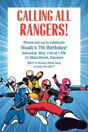 Custom Power Rangers Ninja Steel Invitation