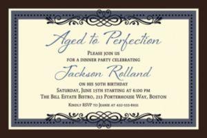 Custom Vintage Invitation