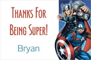 Custom Epic Avengers Thank You Note