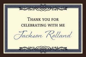 Custom Vintage Thank You Note