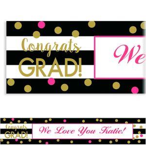 Custom Confetti Graduation Banner