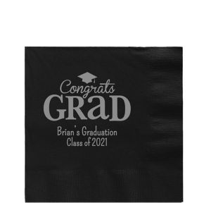 Personalized Graduation Lunch Napkins