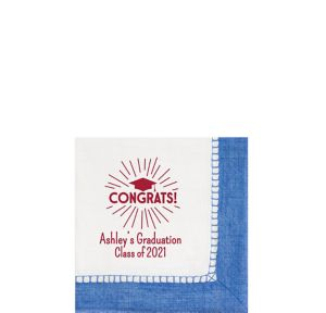 Personalized Graduation Bordered Beverage Napkins